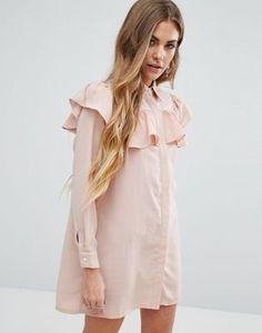 Платье-рубашка с оборками Young Bohemians