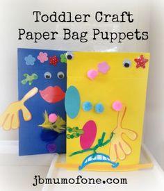 jbmumofone.com Toddler Craft Paper Bag Puppets1 Toddler Craft: Paper Bag Puppets