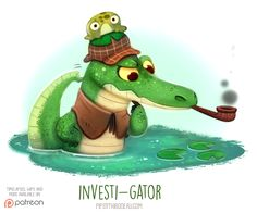 Daily+Paint+1541.+Investi-gator+by+Cryptid-Creations.deviantart.com+on+@DeviantArt