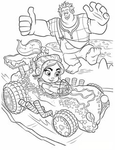 coloring page Wreck it Ralph - Ralph Vanellope