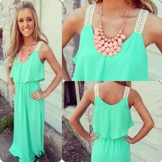 I want this dress AND THE NECKLACE I HAVE ALWAYS WANTED A NECKLACE LIKE THIS ONE