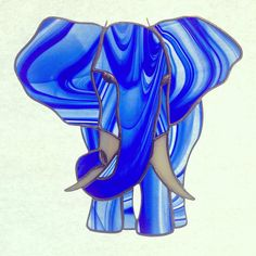 Stained glass elephant sun catcher by StainedGlassArtisan on Etsy