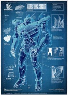 BLUEPRINTS FOR PACIFIC RIM'S MASSIVE ROBOTS