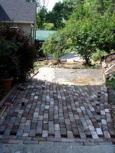 » Antique Brick Patio….running