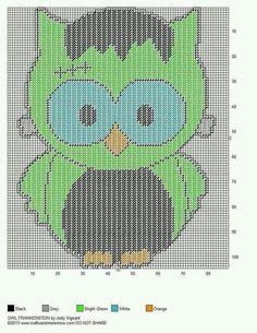 OWL FRANKENSTEIN by JODY VIGEANT -- WALL HANGING