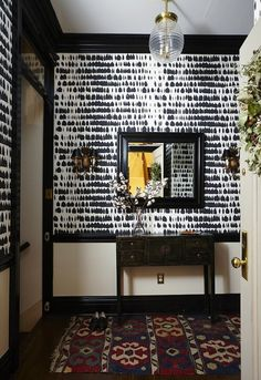 Black Wallpaper: 15 Stylish Patterns for 2016 | Apartment Therapy