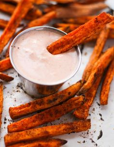 Veggie grill copycat sweet potato fries/sauce [one version of sweet chili aioli, using Mae Ploy sweet chili from amazon: Sweet Chili sauce, heavy mayonnaise, granulated garlic, finely chopped parsely, ginger powder, and splash of siracha - this will give you a delicious sweet chili aioli]