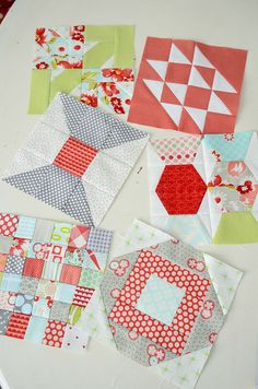 I like these even more!  Adorable quilt blocks!