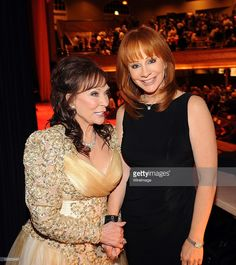 Honooree Loretta Lynn and Reba McEntire during the GRAMMY Salute to Country Music Honoring Loretta Lynn in 2010