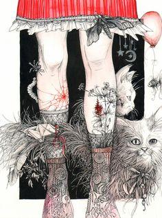 Knees Art Print by Anna Oparina