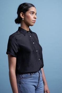 27560d53316 midi skirt black by Signe. Black Midi SkirtOne Shoulder TopsChef ...