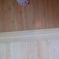 Plyboo in Amber and Natural. Photo shows transition of floor from upper hallway into master bedroom. Accurate pic of bamboo colors.