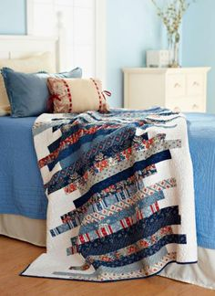 Skinny Strips quilt Fabrics are from the Clermont Farms collection by Minick and Simpson for Moda Fabrics.
