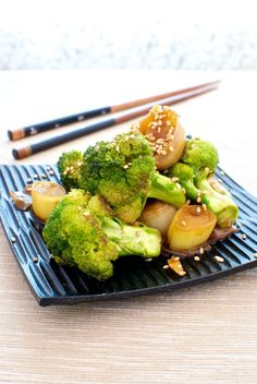Wok de brécol y jengibre, de Pepekitchen, para el blog 'A tu Gusto' de superSol. La mejor gastronomía :)