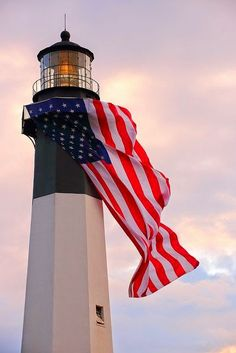 peek and co, 4th of july, lighthouse, flag