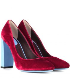 Eloise Velvet Pumps by Fendi