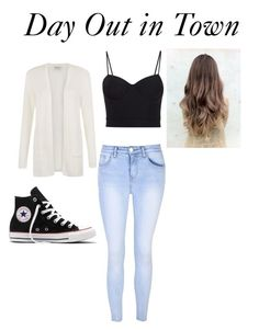 """""""Day Out in Town"""" by samanthastyle-cdxxi ❤ liked on Polyvore featuring Alexander Wang, People Tree, Glamorous, Converse, wildchild, fashionset and abbeymount"""