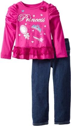 Young Hearts Girls 2-6X 2 Pieced Princess Shirt and Pant, Pink, 5 Young Hearts http://www.amazon.com/dp/B00D4KTICE/ref=cm_sw_r_pi_dp_49nStb01VN5EFWP9