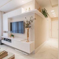 [New] The 10 Best Home Decor Today (with Pictures) - Uma pequena sala muito estilosa . Modern Tv Units, Modern Tv Wall, Modern Living, Tv Unit Decor, Tv Wall Decor, Tv Wall Design, House Design, Sala Grande, Modern Kitchen Interiors