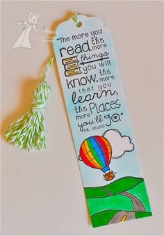 Places Bookmark by Carole Burrage #Bookmarks