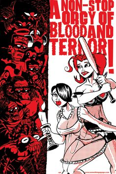 A nonstop orgy of blood and terror by Monstarshop on Etsy