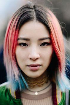 Irene Kim With Rainbow Hair