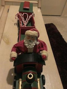 A Wooden collectible  Christmas Train