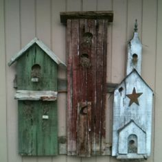 My birdhouse fence boards