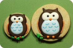 owl icing cookie