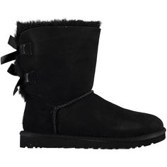 Ugg Womens Bailey Bow ($245) ❤ liked on Polyvore featuring shoes, boots, uggs, black, lightweight shoes, bow shoes, genuine leather boots, real leather boots and ugg australia boots