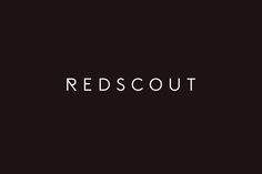 Sans-serif logotype design by Franklyn for international strategy, design and innovation agency Redscout