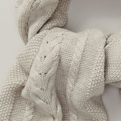 All Over Cable Scarf | The White Company