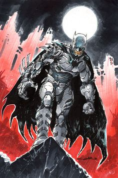 Cyber Batman - Fan Art Created by Yildiray Cinar / Find this Artist on Deviant Art - Website - Tumblr - Twitter / More Arts from this artist on my Tumblr HERE