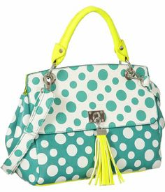 Green Melie Bianco ''Lynn'' Polka Dot Tote Melie Bianco, To SEE or BUY just CLICK on AMAZON right here http://www.amazon.com/dp/B00EP7061W/ref=cm_sw_r_pi_dp_3FUDtb19W1Y4T2H6