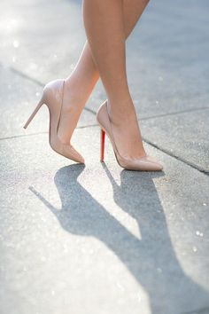 Perfect nude pump #christian louboutin heels via www.heartoverheels.com