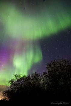 Mushroom Cloud Aurora seen in Alberta, Canada. By dreaming_outdoors