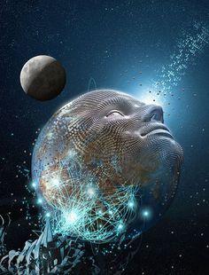 Abre las compuertas de la matriz divina Deja que sangre  y la tierra se mezclan, Con los códigos genéticos del infinito, Deja abierta la puerta a la conciencia, Abre el espíritu de la mente universal.