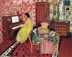 """Henri Matisse: Pianist and Checker Players, 1924 - oil on canvas (Collection of Mr. Paul Mellon) """"Through the Matisse stayed in Nice from late fall to early spring of each year, while his wife and family remained in. Henri Matisse, Matisse Kunst, Matisse Art, National Gallery Of Art, Art Gallery, National Art, Matisse Pinturas, Art Fauvisme, Matisse Paintings"""