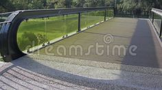 Video about Bridge with green glass and balustrade. Video of structure, balustrade, clip - 60052069
