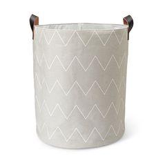 Förvaringskorg, 39x45 cm, ljusgrå