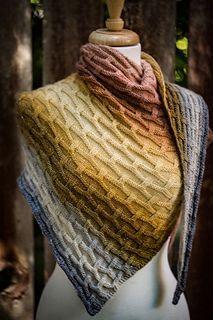 Knitting Patterns Poncho Ravelry: Heavy Metal pattern by Shireen Nadir Knitted Shawls, Crochet Shawl, Crochet Scarves, Knit Crochet, Knitting Scarves, Knitting Wool, Easy Knitting, Shawl Patterns, Knitting Patterns Free