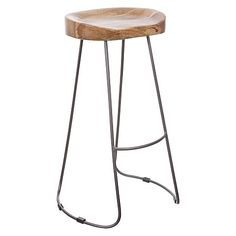Rekindle your love of sculptural, industrial design with the curved timber of the Tractor Bar Stool from Dover Mason. Bar Bench, Bench Stool, Tractor Bar Stools, Lounge Design, Industrial Design, Tractors, Sculpture, House Styles, Grey