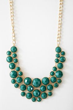 Emerald Beaded Necklace. Yes please.
