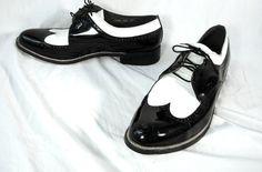 men black and white spectator shoe full brogue men's britsh fashion co-respondent two-tone saddle shoe oxfords sapatos - Google Search