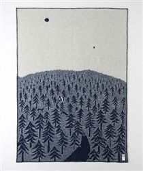 Limited edition from Klippan, the House in the Forest Blue Blanket designed by Akira Minagawa is now at Northlight Homestore