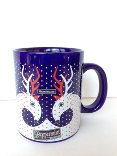 Schnapps Mug Reindeer Heart Hiram Walker Cup Holiday Deer Coffee Valentine Day