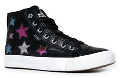 High Top Lace Up Embellished Sneaker - Casual Walking Metallic Star Shoe - Klutch by Cute to the Core * This is an Amazon Affiliate link. You can get additional details at the image link.