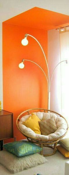Orange Home Decor, Orange House, Orange County, Hanging Chair, Cottage, Furniture, Hanging Chair Stand, Cottages, Home Furnishings