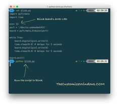 We need not to compile the Python scripts unlike C++ but simply run the Python scripts from Terminal/iTerm2