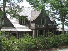 Shingle Style Homes, Retreat House, Curb Appeal, Beautiful Homes, House Plans, New Homes, Floor Plans, House Design, How To Plan